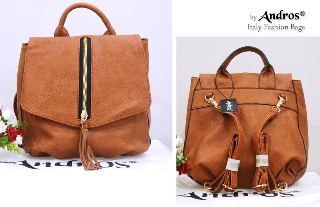 AB7000 IDR. 255.000 BAHAN PU SIZE L26XH29XW12CM WEIGHT 800GR COLOR BROWN