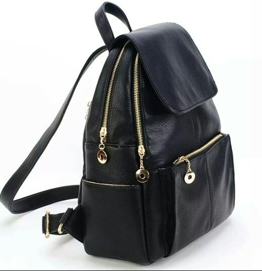 B021 IDR.178.000 TAS FASHION MATERIAL PU SIZE L32XH40XW12CM WEIGHT 850GR COLOR BLACK