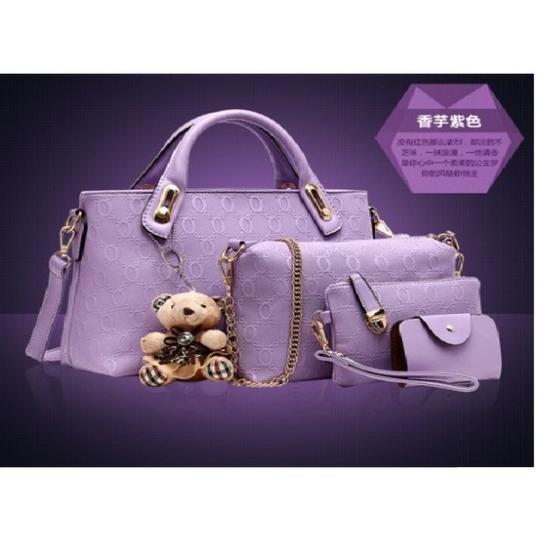 B066-(4in1) IDR.190.000 MATERIAL PU SIZE BIG-L32XH23CM,MEDIUM-L28XH18CM WEIGHT 1200GR COLOR PURPLE