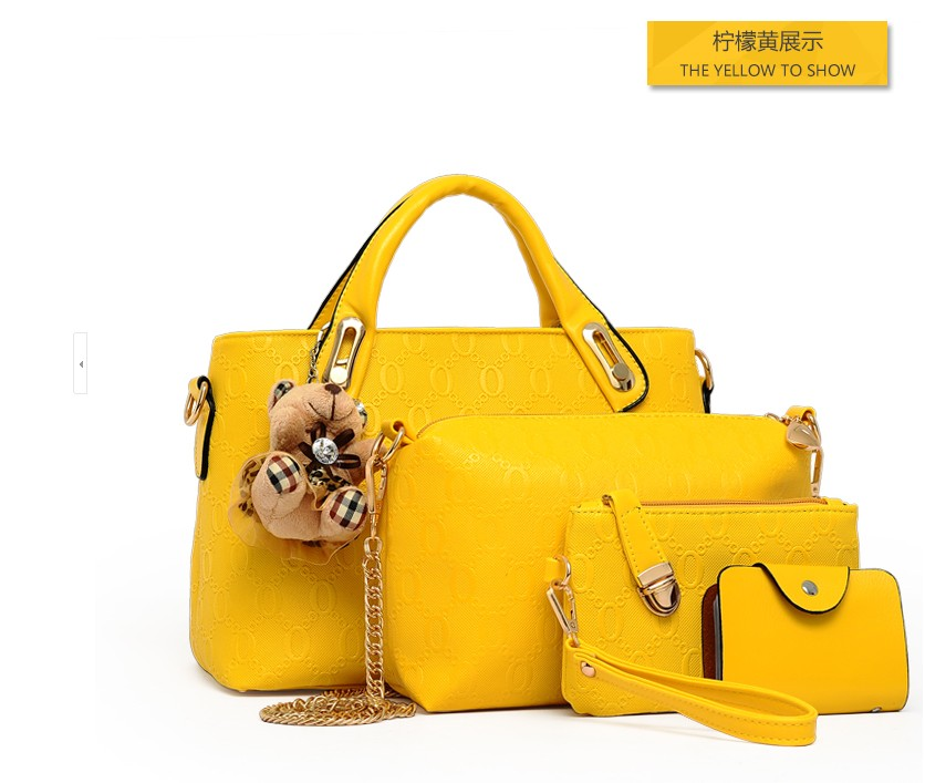 B066-(4in1) IDR.190.000 MATERIAL PU SIZE BIG-L32XH23CM,MEDIUM-L28XH18CM WEIGHT 1200GR COLOR YELLOW