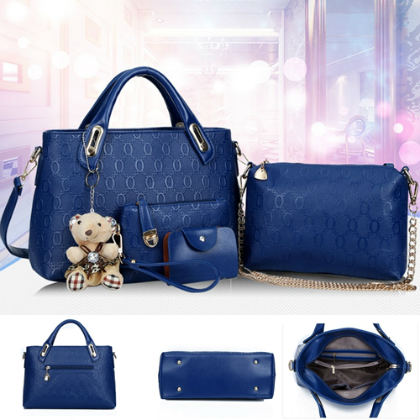 B066-(4in1) IDR.205.000 MATERIAL PU SIZE BIG-L32XH23CM,MEDIUM-L28XH18CM WEIGHT 1200GR COLOR BLUE
