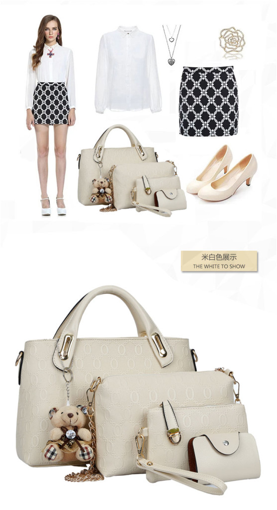 B066-(4in1) IDR.215.000 MATERIAL PU SIZE BIG-L32XH23CM,MEDIUM-L28XH18CM WEIGHT 1200GR COLOR BEIGE