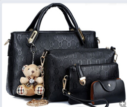 B066-4in1-IDR.215.000-MATERIAL-PU-SIZE-BIG-L32XH23CMMEDIUM-L28XH18CM-WEIGHT-1200GR-COLOR-BLACK