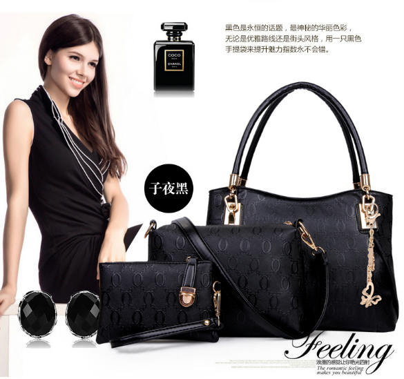 B067-(3in1) IDR.208.000 MATERIAL PU SIZE BIG-L31XH24XW14CM,MEDIUM-L24X17X7CM,SMALL-17X12CM WEIGHT 1300GR COLOR BLACK
