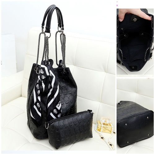 B073-(2in1) IDR.180.000 MATERIAL PU SIZE L26XH33XW16CM WEIGHT 900GR COLOR BLACK