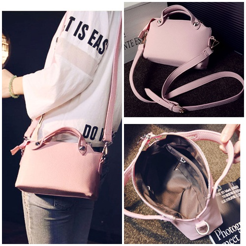 B082 IDR.155.000 MATERIAL PU SIZE L24XH16XW8CM WEIGHT 450GR COLOR PINK