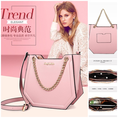 B10270 IDR.199.000 MATERIAL PU SIZE L24XH21XW10CM WEIGHT 800GR COLOR PINK
