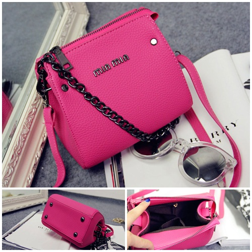 B1198 IDR.155.000 MATERIAL PU SIZE L17XH15XW8CM WEIGHT 400GR COLOR ROSE