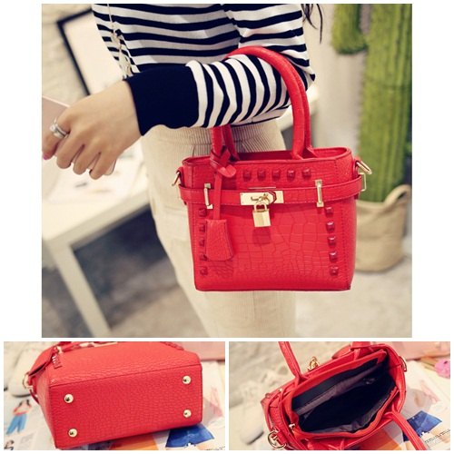 B1212 IDR.169.000 TAS FASHION MATERIAL PU SIZE L20XH17XW9CM WEIGHT 600GR COLOR RED