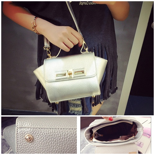 B1229 IDR.175.000 MATERIAL PU SIZE L26XH14XW10CM WEIGHT 600GR COLOR SILVER