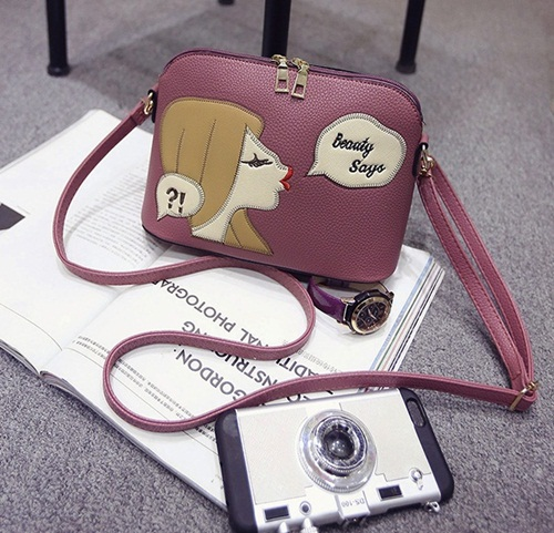 B1254 IDR.143.000 MATERIAL PU SIZE L23XH17XW10CM WEIGHT 500GR COLOR PURPLE