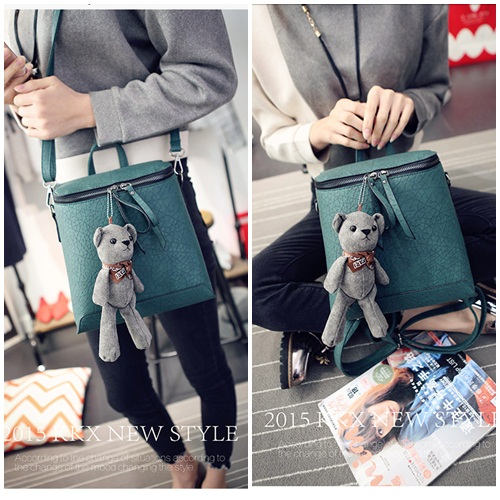B1393 IDR.175.000 MATERIAL PU SIZE L23XH25XW11CM WEIGHT 750GR COLOR GREEN
