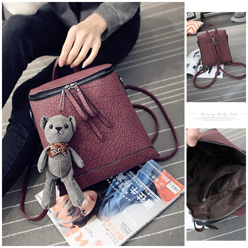 B1393 IDR.175.000 MATERIAL PU SIZE L23XH25XW11CM WEIGHT 750GR COLOR PURPLE