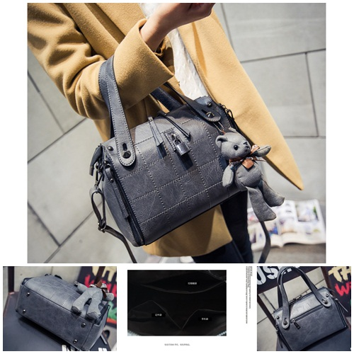 B1410 IDR.195.000 MATERIAL PU SIZE L27XH20XW13CM WEIGHT 850GR COLOR GRAY