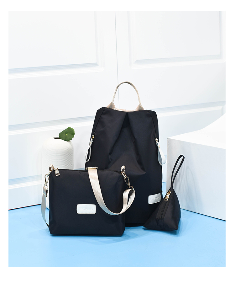 B1501-(3in1) IDR.154.000 MATERIAL NYLON SIZE L28XH35XW17CM WEIGHT 500GR COLOR BLACK