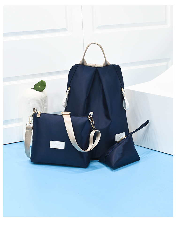B1501-(3in1) IDR.154.000 MATERIAL NYLON SIZE L28XH35XW17CM WEIGHT 500GR COLOR BLUE