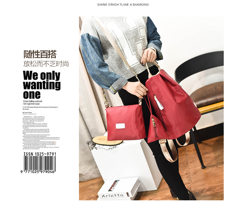 B1501-(3in1) IDR.154.000 MATERIAL NYLON SIZE L28XH35XW17CM WEIGHT 500GR COLOR RED