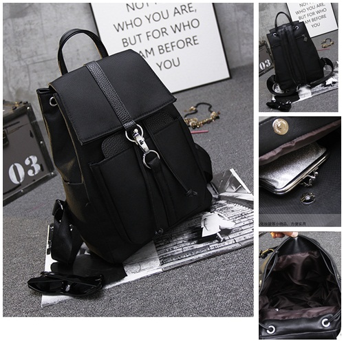 B1503B IDR.174.000 MATERIAL CANVAS SIZE L29XH37XW15CM WEIGHT 670GR WEIGHT COLOR BLACK