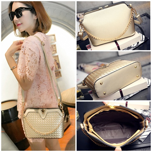 B1521 IDR.185.000 MATERIAL PU SIZE L23XH17XW9CM WEIGHT 600GR COLOR GOLD