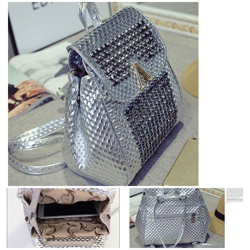 B1581 IDR.195.000 MATERIAL PU SIZE L24XH27XW10CM WEIGHT 700GR COLOR SILVER