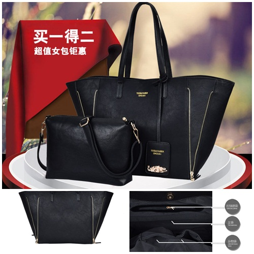 B1631(2in1) IDR.207.000 MATERIAL PU SIZE L50XH31XW15CM WEIGHT 1100GR COLOR BLACK
