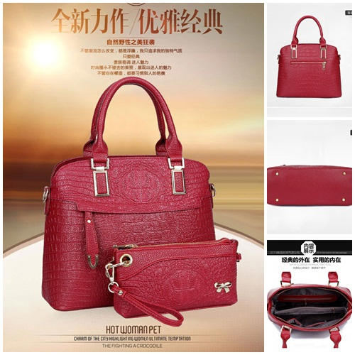 B1643(2in1) IDR.250.000 MATERIAL PU SIZE L34XH27XW15CM WEIGHT 1200GR COLOR RED