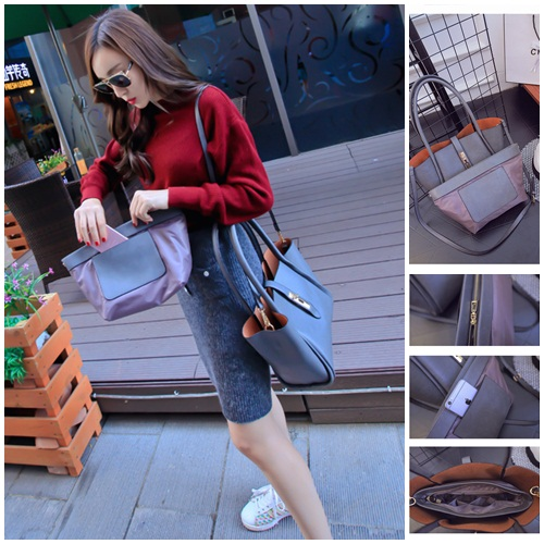B1653(2in1) IDR.197.000 MATERIAL PU SIZE L40-26XH21XW14CM WEIGHT 850GR COLOR GRAY