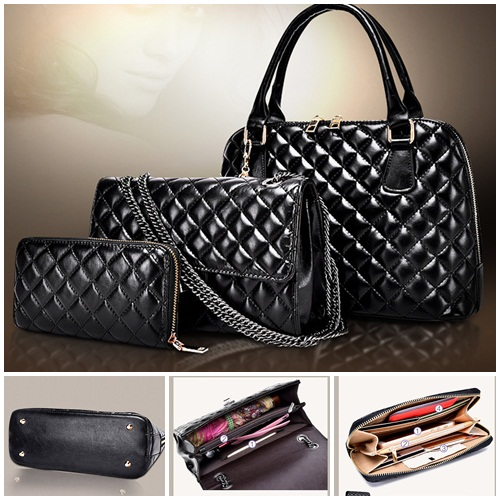 B1685(3in1) IDR.250.000 MATERIAL PU SIZE L32XH22XW13CM WEIGHT 1300GR COLOR BLACK