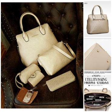 B1745-(6in1) IDR.245.000 MATERIAL PU SIZE L35XH29XW14CM WEIGHT 1500GR COLOR GOLD