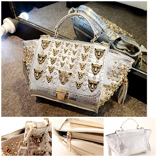 B175 IDR.235.000 MATERIAL PU SIZE L22-38CMXH19XW13CM WEIGHT 950GR COLOR SILVER