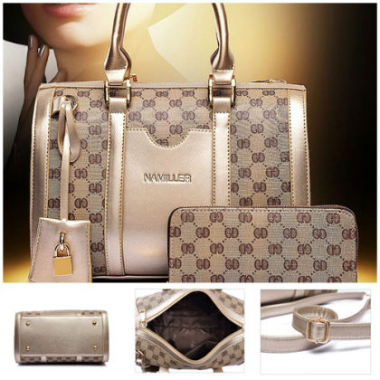 B1918-(2in1) IDR.235.000 MATERIAL CANVAS SIZE L30XH21XW17CM WEIGHT 1000GR COLOR GOLD