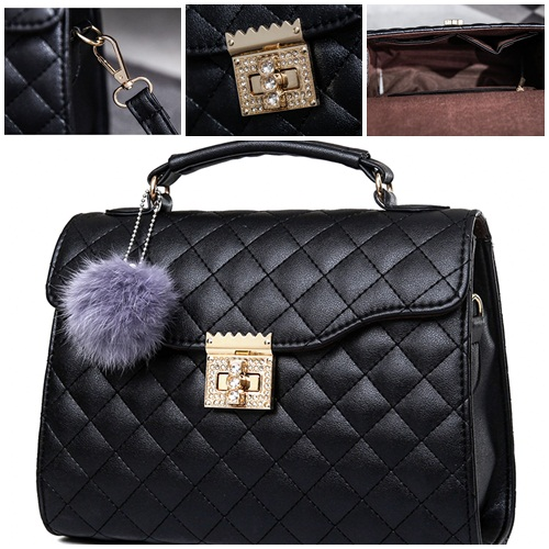 B1956 IDR.169.000 MATERIAL PU SIZE L26XH20XW10CM WEIGHT 700GR COLOR BLACK