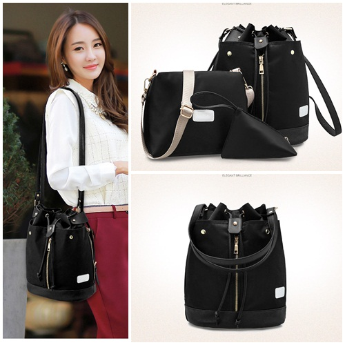 B1960-(3in1) IDR.185.000 MATERIAL NYLON SIZE L27XH34XW16CM WEIGHT 800GR COLOR BLACK