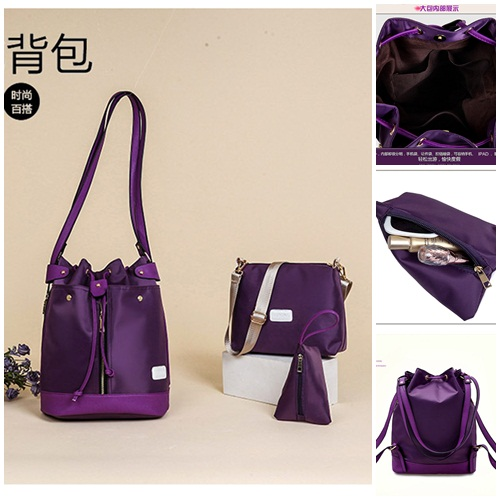 B1960-(3in1) IDR.185.000 MATERIAL NYLON SIZE L27XH34XW16CM WEIGHT 800GR COLOR PURPLE