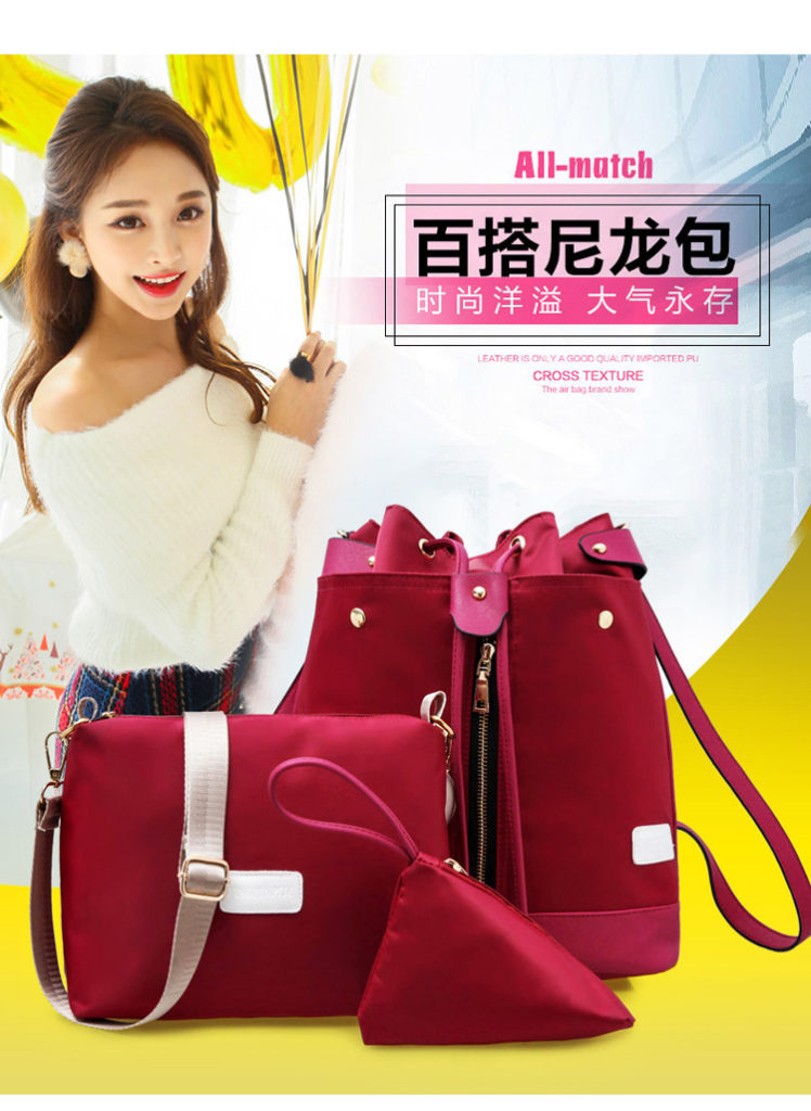 B1960-(3in1) IDR.185.000 MATERIAL NYLON SIZE L27XH34XW16CM WEIGHT 800GR COLOR RED