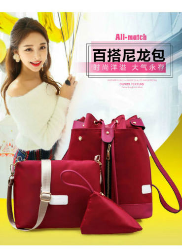 B1960-(3in1) IDR.195.000 MATERIAL NYLON SIZE L27XH34XW16CM WEIGHT 800GR COLOR RED