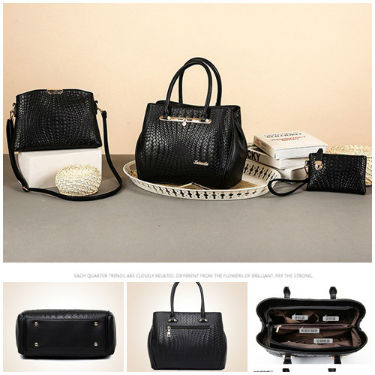 B1974-(3in1) IDR.250.000 MATERIAL PU SIZE L32XH25XW14CM WEIGHT 1300GR COLOR BLACK