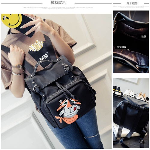 B1998 IDR.166.000 MATERIAL PU SIZE L26XH28XW15CM WEIGHT 750GR COLOR BLACK