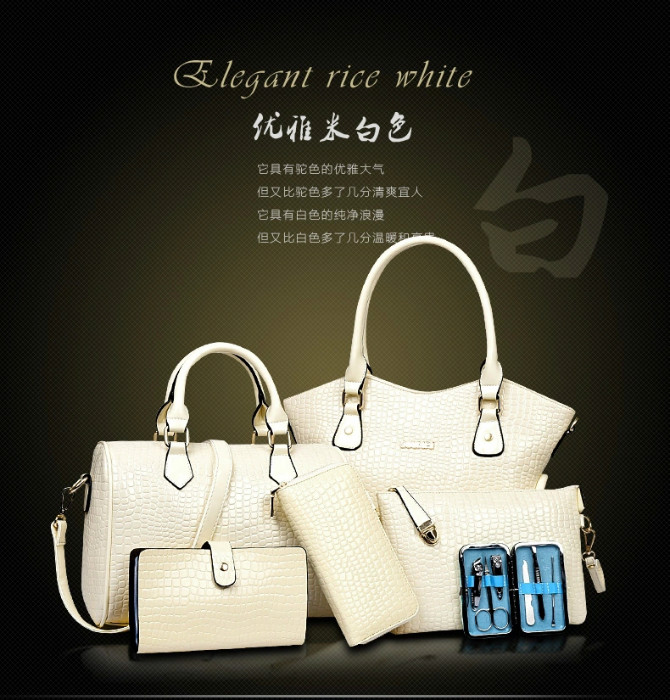B2022(6IN1,WITH MANICURE KIT) IDR.295.000 MATERIAL PU SIZE BIG L34XH28 MEDIUM L28XH21CM WEIGHT 1700GR COLOR BEIGE