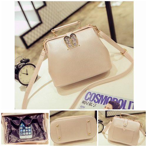 B2055 IDR.179.000 TAS FASHION MATERIAL PU SIZE L24XH17XW12CM WEIGHT 800GR COLOR PINK