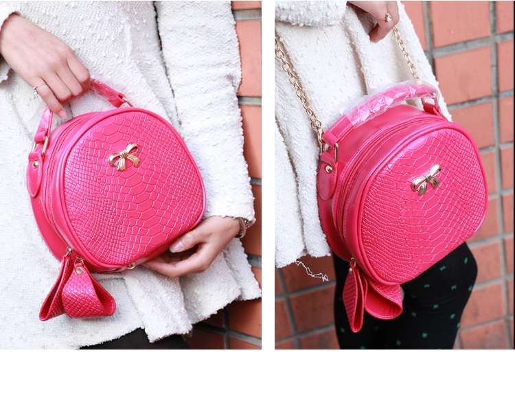 B2072 IDR.155.000 MATERIAL PU SIZE L19XH20XW8CM WEIGHT 550GR COLOR ROSE