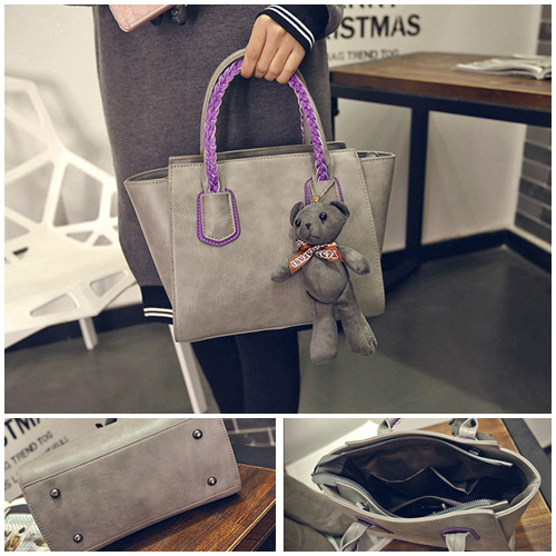 B2088 IDR.182.000 MATERIAL PU SIZE L25-33XH20XW14CM WEIGHT 750GR COLOR GRAY