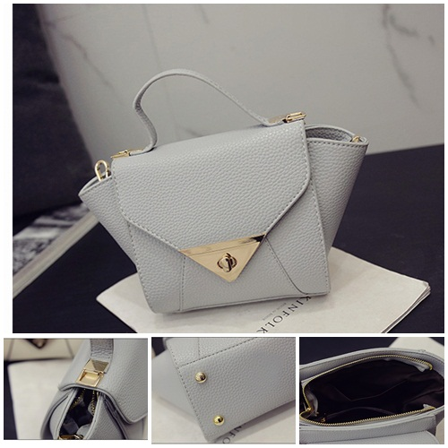 B2099 IDR.155.000 MATERIAL PU SIZE L17-27XH16XW12CM WEIGHT 600GR COLOR LIGHTGRAY