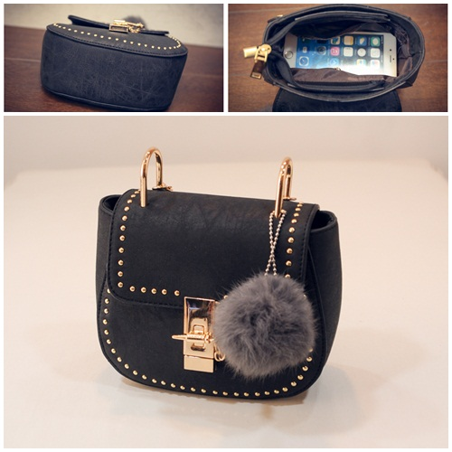 B2101 IDR.155.000 TAS FASHION MATERIAL PU SIZE L17XH15XW7CM WEIGHT 550GR COLOR BLACK