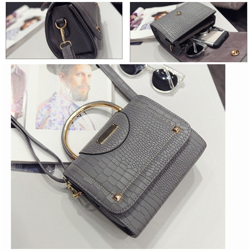 B2114 IDR.159.000 MATERIAL PU SIZE L20XH16XW10CM WEIGHT 550GR COLOR GRAY