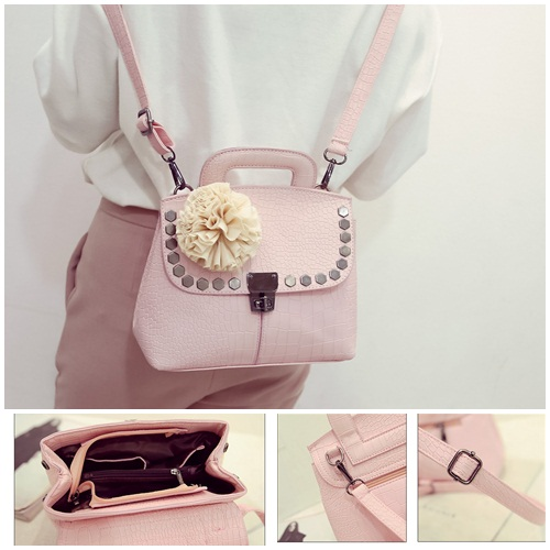 B2132 IDR.180.000 MATERIAL PU SIZE L24XH20XW12CM WEIGHT 700GR COLOR PINK