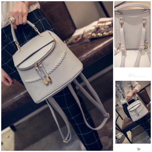 B2152 IDR.175.000 MATERIAL PU SIZE L24XH23XW15CM WEIGHT 650GR COLOR GRAY