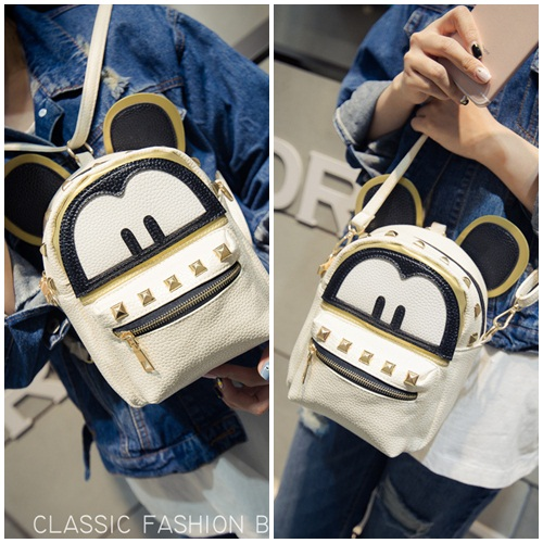 B21643 IDR.143.000 MATERIAL PU SIZE L19XH17XW10CM WEIGHT 400GR COLOR BEIGE