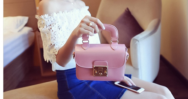 B2190 IDR.162.000 MATERIAL PU SIZE L18XH14XW7CM WEIGHT 550GR COLOR PINK