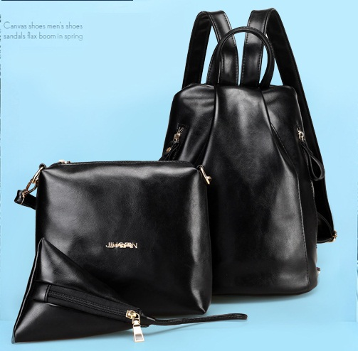 B2254-(3in1) IDR.166.000 MATERIAL PU SIZE L27XH31XW15CM WEIGHT 700GR COLOR BLACK